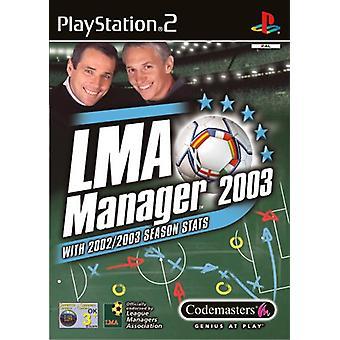 LMA Manager 2003 (PS2)-ny