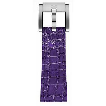 TW steel Marc Coblen armband horloge band 22 MM krokodil leer paars LB_V_K_S