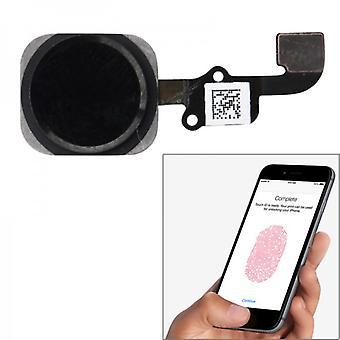 Koti-painiketta sormi sormenjälkitunnistin Apple iPhone 6 ja 6 plus Flex musta