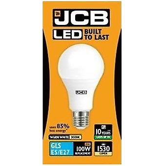 1 X JCB LED 15 Watt Screw Cap GLS Lamp Warm White 3000K 100W Replacement ES E27 LED Bulb [Energy Class A+]