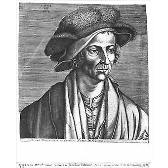 Portrait of Joachim Patinir, 1521.. - Art Print