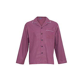 Cyberjammies 6282 Men's Austin Red Geometric Pijama Top