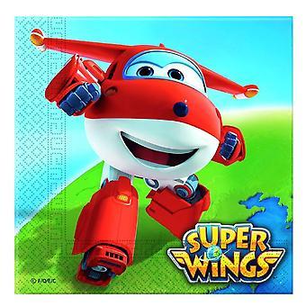Super wings aircraft Jet party napkins 33 x 33 cm 20pcs children birthday theme party