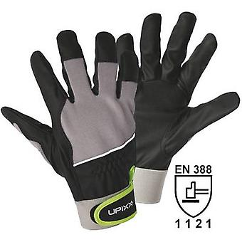 L+D Upixx 1190 Black, Grey PU-material, Micro-Fibre and Spandex. Touch Grip 10 EN 388
