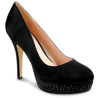 Dames Diamante Platform vrouwen elegante partij Hof schoenen hakken franje Clutch tas