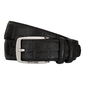 OTTO KERN belts men's belts leather belt black 7483