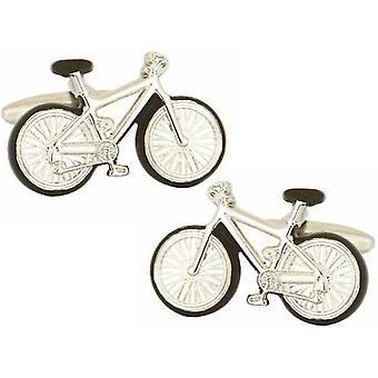 David Van Hagen Bicycle Cufflinks - Silver