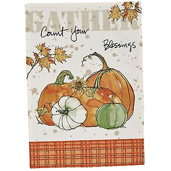 Park Designs Gather Count Your Blessings Pumpkins Printed Kitchen Dish Towel