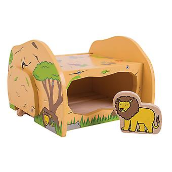Bigjigs Rail Wooden Safari Lions Den Animal Train Track Railway Accessories