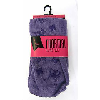 Ladies Anucci Thermal Slipper Socks SK130