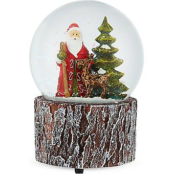 Gisela Graham Woodland Musical Christmas Snowglobe