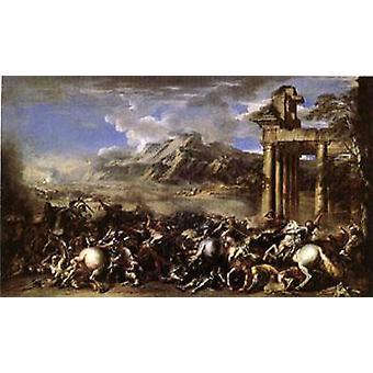 英雄の戦い、サルバトールローザ、60x40cm