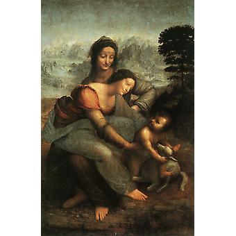 La Vierge et Sainte Anne, LÉONARD de Vinci, 60x40cm