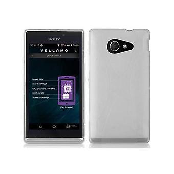 Cadorabo Hülle für Sony Xperia M2 / M2 Aqua Case Cover - Handyhülle aus flexiblem TPU Silikon – Silikonhülle Schutzhülle Ultra Slim Soft Back Cover Case Bumper