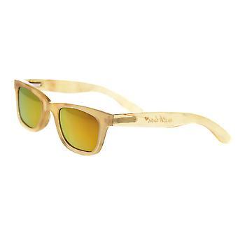 Bertha Zoe buffel-hoorn gepolariseerde zonnebril - honing/Gold