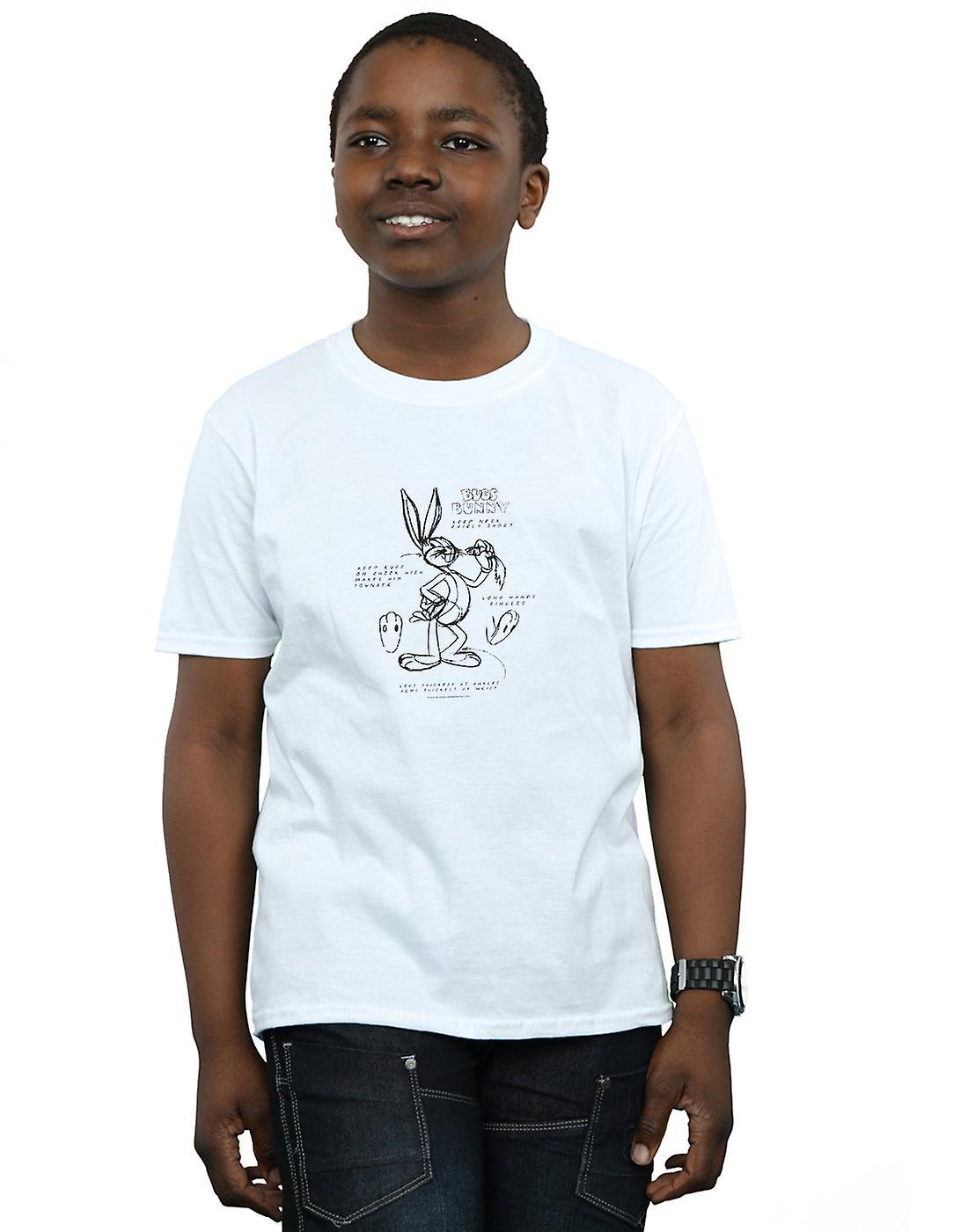 Looney Tunes Boys Bugs Bunny Drawing Instruction T-Shirt
