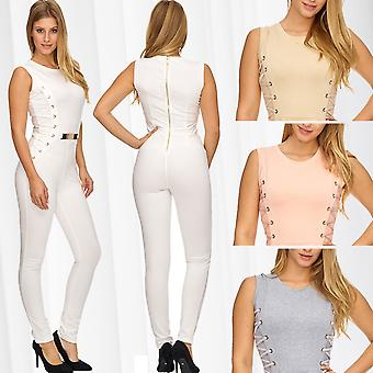 Ladies Jumpsuit Overall Belt Luxury Pantsuit Overall Corsage Suit figure-hugging suit