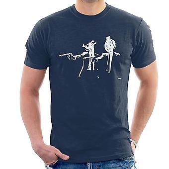 Zinn-Zinn und verschneiten Pulp Fiction Herren T-Shirt
