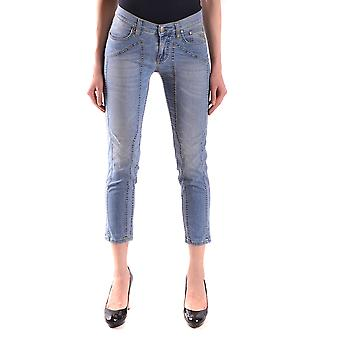 Jeckerson Ezbc069010 Women's Blue Cotton Jeans