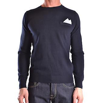 Frankie Morello Ezbc167048 Men-apos;s Blue Cotton Sweater