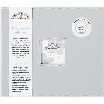 Doodlebug Design Grå 12x12 Tums Storybook Album