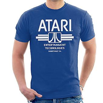 Atari Entertainment Technologies Logo White Men's T-Shirt