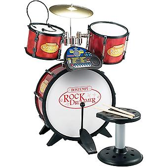 Bontempi Rock Drummer Drum Set met elektronische ritme Tutor, kruk en Headset