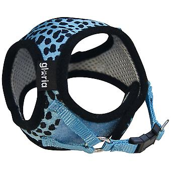 Gloria Leopard Print Touch Fastening Dog Chest Harness