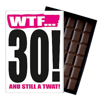 Funny 30th Birthday Gift Rude Naughty Present for Him or Her 85g Chocolate Card IYF114