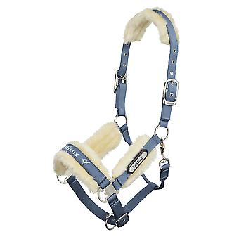 LeMieux Lemieux Loire fleece gevoerde Headcollar-Ice Blue