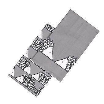 Scion Spike Set of 2 Tea Towels, Dark Grey