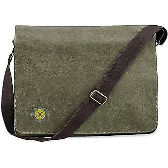 Irish Guards - Licensed British Army Embroidered Vintage Canvas Despatch Messenger Bag