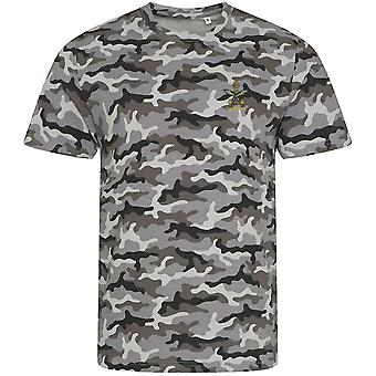 Queens Gurkha Engineers Veteran - Licensed British Army Embroidered Camouflage Print T-Shirt
