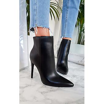 IKRUSH Womens Lala Point Heel Ankle-Boots