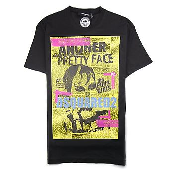 Dsquared2 Another Pretty Face Tee Black/Yellow