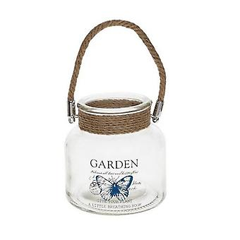 Garden Jar and Candle Holder Butterfly