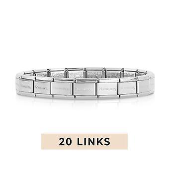 Nomination Classic 20 Link Composable Silver Steel Starter Bracelet 030000/SI/20