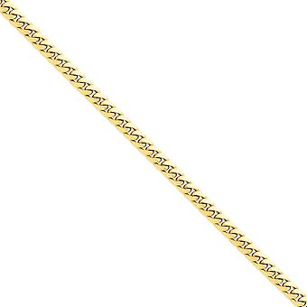 14 k Gelb Gold solide polierte Klaue Schließung 6,25 mm gewölbt Kandare Kette Armband - 8 Zoll - Hummer Hummergreifer