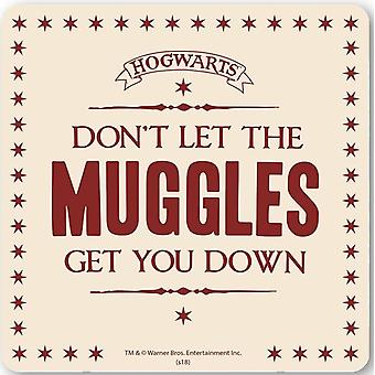 Harry Potter Don't Let The Muggles Get You Down drinks mat / coaster (lsh)