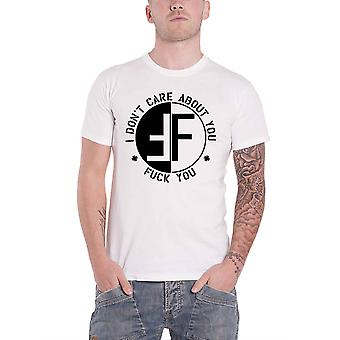 Fear T Shirt I Dont Care About You Band Logo hardcore punk Official Mens White