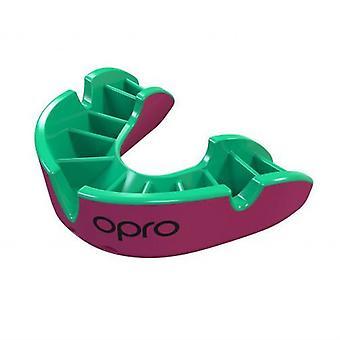 OPro zilver Gen 4 mond bewaker roze/groen