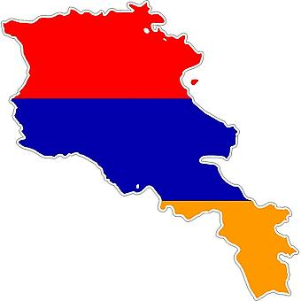 Pegatina Adhesif coche vinilo bandera Armenie tarjeta
