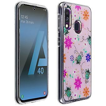 Caso protetor completo para Samsung Galaxy A40 shockproof Bee design-rosa