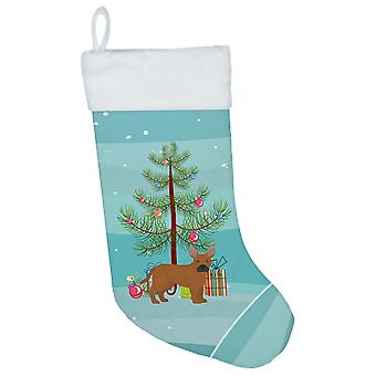 Tan French Bulldog Pit Bull Mix Christmas Tree Christmas Stocking