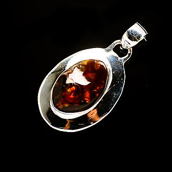 Mexican Fire Agate Pendant 1 3/8