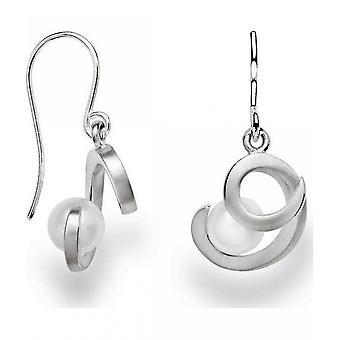 bastian inverun - 925 silver earrings with breeding pearl, white - 22731
