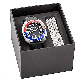 Perinnötai automaattinen Matador laatikko setti vaihdettavissa bändejä ja päivä määrä näyttö-punainen/sininen