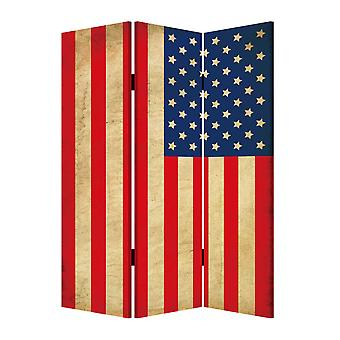 1_quote; x 48_quote; x 72_quote; 多色, 木材, 画布, 美国国旗 - 屏幕
