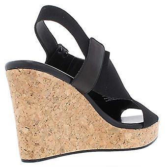 DKNY naisten Jamara kangas suljettu toe rento Platform sandaalit