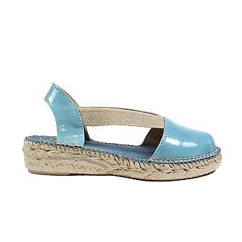 Toni Pons Evon-XA Denim Blue Patent Leather Womens Pull On Espadrille Sandals